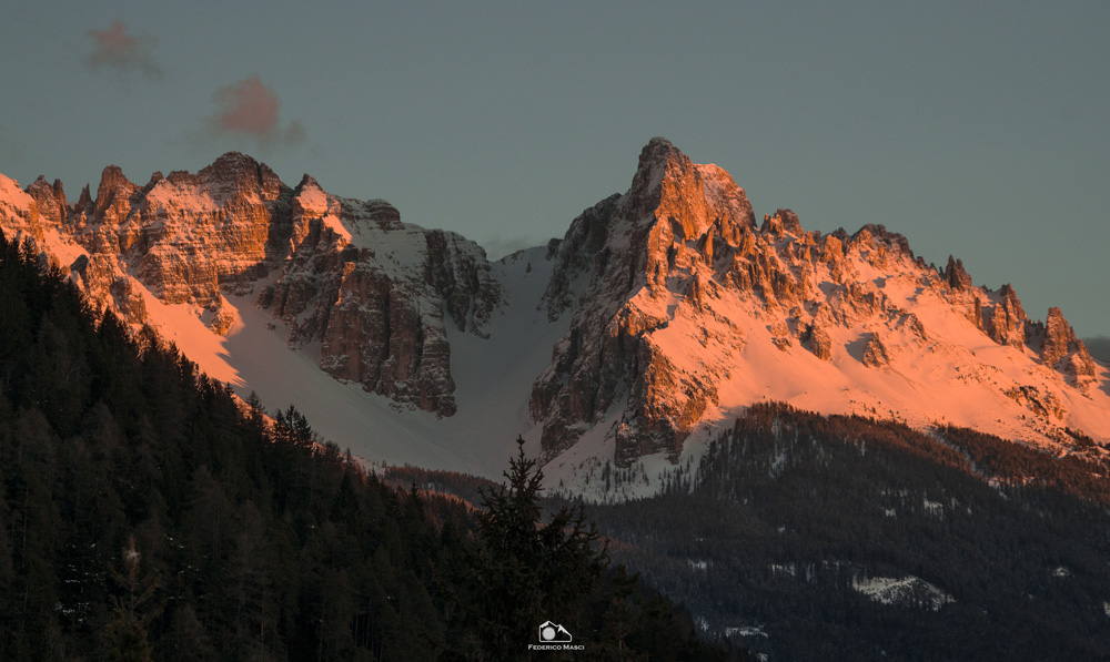 Tramonto in Val d'Ega