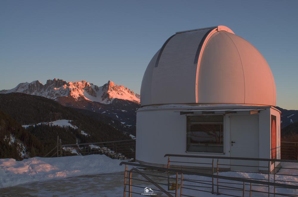Osservatorio Max Valier al tramonto