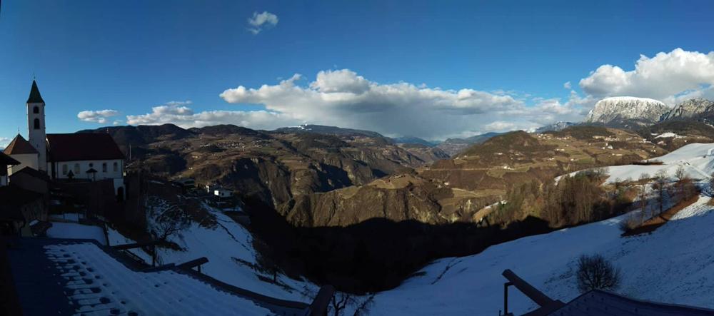Panorama Val d'Ega in Alto Adige