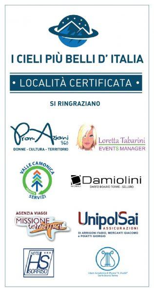 Sponsor che hanno regalato la Certificazione I Cieli Più Belli d'Italia a Darfo Boario Terme